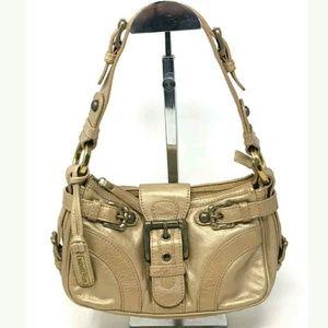 Isabella Fiore Handbag Small Gold Hobo Bag